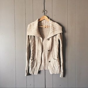🌙 Buckle Cable Knit Sweater Cardigan